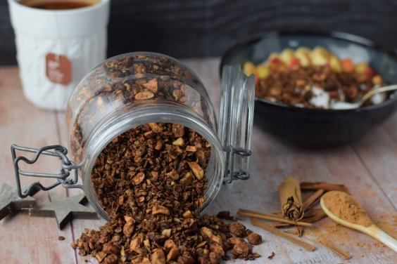 Schokoladen Knuspermüsli vegan