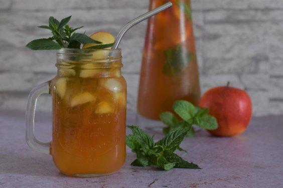 Apfel-Minze Eistee