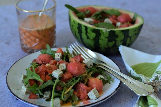 Melonensalat mit Tomaten